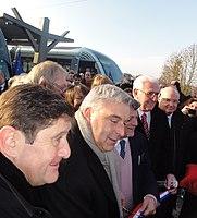 Inauguration de la branche vers Vieux-Condé de la ligne B du tramway de Valenciennes le 13 décembre 2013 (091).JPG