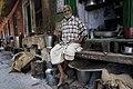 India - Varanasi old man plaid - 0578.jpg