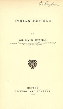 a plot summary of indian summer by william dean howells William dean howells was a novelist william dean howells: latter-day literary hero indian summer william dean howells.