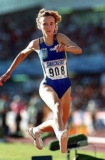 Inessa Kravets Soviet and Ukrainian triple and long jumper