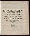 Informacya o fundacyi biblioteki j.w. jmci xiedza Jozefa Jedrzeia Zaluskiego 1761 (68140274).jpg