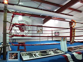 International Boxing Hall of Fame - Some of the exhibits at the International Boxing Hall of Fame
