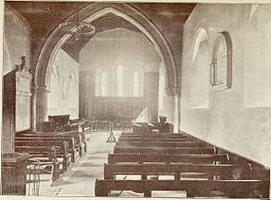 God's House Hospital - Interior of God's House Chapel, c. 19th century