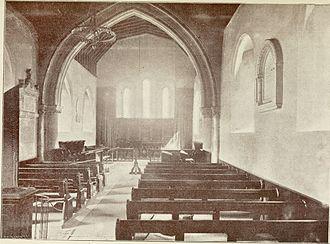 Church of St. Julien, Southampton - Interior of God's House Chapel, c. 19th century