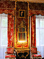 Interior of Nieborów Palace - Red Salon - 04.jpg