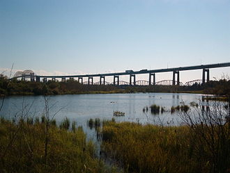 Sault Ste. Marie International Bridge - Image: International Bridge from Wetland