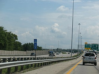 Interstate 480 (Ohio) - A view of Interstate 480N about halfway through the route.