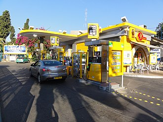 Paz Oil Company - Paz filling station in Haifa