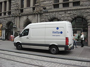 Posti Group - An Itella Logistics van.