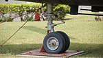 JMSDF KV-107ⅡA-3A(8608) nose landing gear left rear view at Kanoya Naval Air Base Museum April 29, 2017.jpg