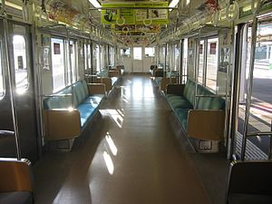 207 series (JR East) - Image: JNR207 interior