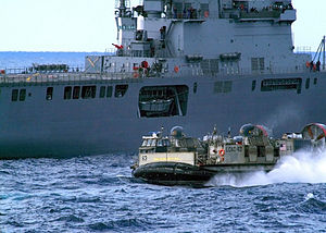 JS Ōsumi (LST-4001) and a U.S. LCAC in the Pacific, -7 Mar. 2007 a.jpg