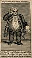 Jacob Powell, who died weighing almost 40 stone. Line engrav Wellcome V0007268.jpg