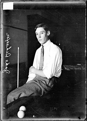 Jacob Schaefer Jr. - Image: Jacob Schaefer Jr sitting on pool table