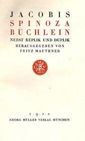 """Zweiter Band von Fritz Mauthners """"Bibliothek der Philosophen"""". 1912 (Quelle: Wikimedia)"""