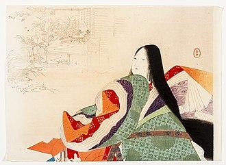 Taira no Tokuko - Image: Jakkoin by Mizuno Toshikata