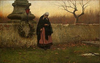 All Souls' Day - All Souls' Day, painting by Jakub Schikaneder, 1888