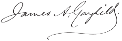 James Abram Garfield Signature.svg
