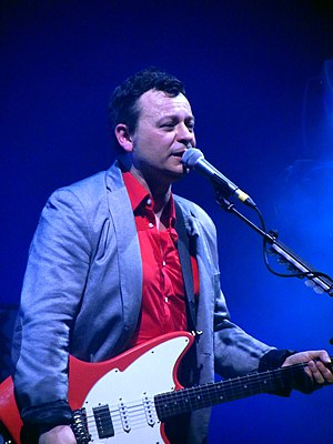 James Dean Bradfield - Bradfield performing with Manic Street Preachers in 2014