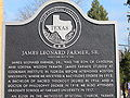 James Leonard Farmer, Sr., historical marker at Wiley College IMG 2362.JPG
