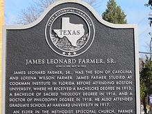 In ricordo di James Leonard Farmer Senior