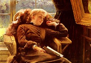 Kathleen Newton In An Armchair