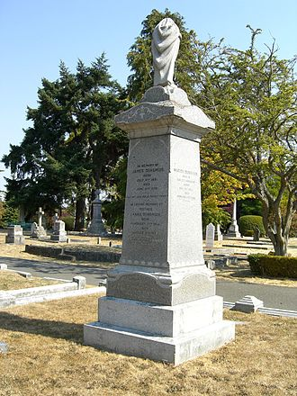 James Dunsmuir - Grave monument of James Dunsmuir at Ross Bay Cemetery in Victoria, British Columbia