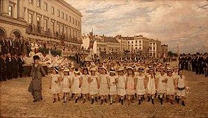 Paul Saintenoy - Image: Jan Verhas La revue des écoles en 1878