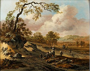Wooded Hilly Landscape with a Road