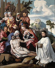 Lamentation of Christ with donor