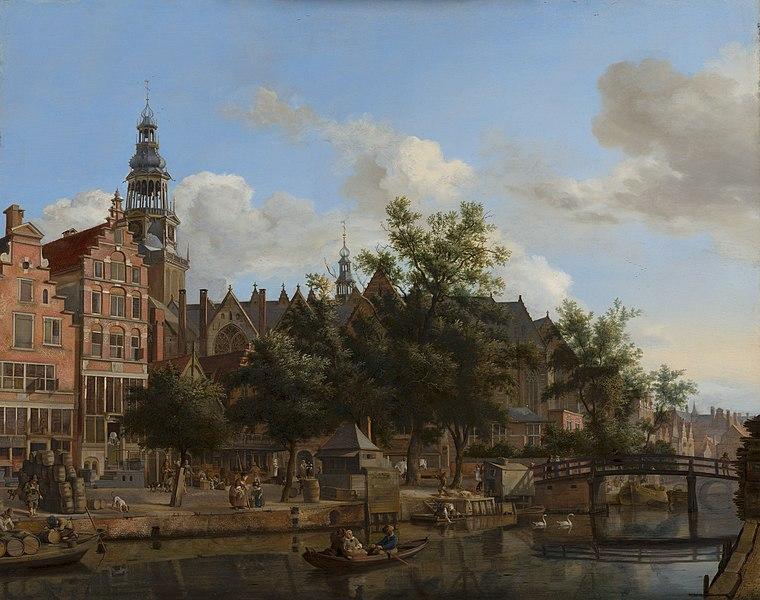 File:Jan van der Heyden, View of Oudezijds Voorburgwal with the Oude Kerk in Amsterdam.jpg