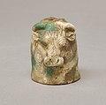 Janus-faced aryballos depicting a Nubian and a bull MET 2008.546 back.jpeg