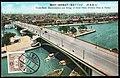 Japan 1934 stamped postcard showing street scene - Osaka-Tenjin Bashi bridge.jpg