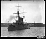 Japanese warship HIJMS IWATE in Sydney Harbour, January 1924 (7245153902).jpg