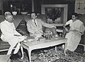 Jawaharlal Nehru and Indira Gandhi with A.I. Mikoyan, First Deputy Premier of USSR.jpg