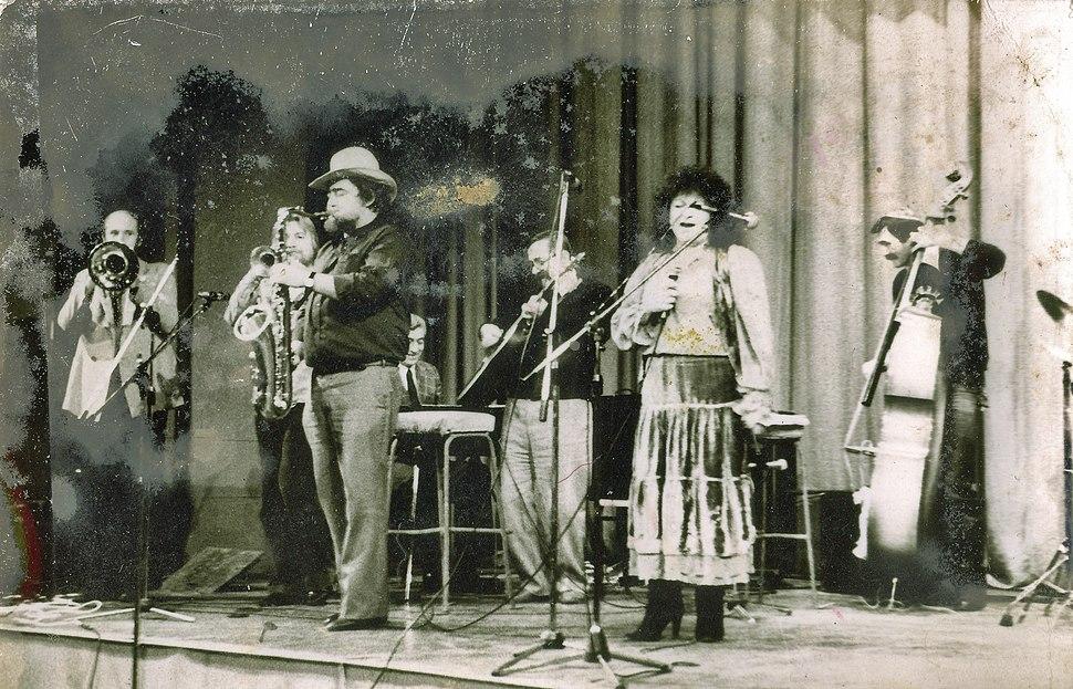 Jazz koncert u Nisu 1981 - Nada Knezevic, Milivoje Markovic (saksofon), Misa Blam (kontrabas)