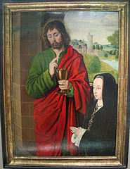 Anne of France and Her Daughter Suzanne, Presented by Saint John the Evangelist