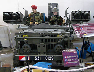 ENTAC - French Hotchkiss M201 with four ENTAC missiles