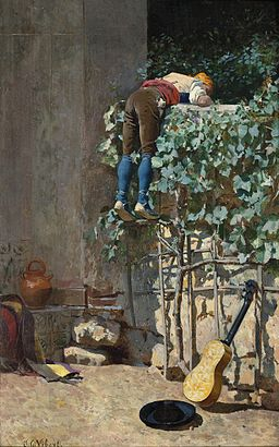 Jehan Georges Vibert - Sneaking a peek
