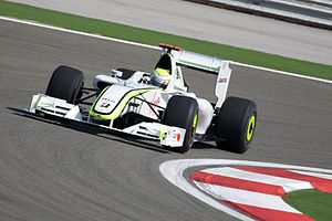 Jenson Button driving for Brawn GP at the 2009...