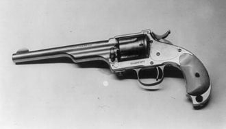 Hopkins & Allen - Image: Jesse James; his 44 Hopkins & Allen pistol, 1873 model