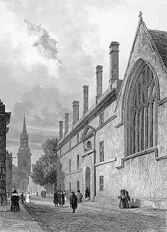 All Saints Church, Oxford - Image: Jesus College engraving 1839