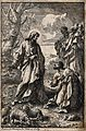 Jesus appoints Peter as head of the church. Etching by P.L. Wellcome V0034722.jpg