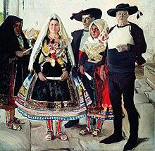 Joaquín Sorolla y Bastida Indumentaria lagarterana (1912). Trajes  tradicionales de Lagartera (Toledo e835aed676d5