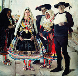 Joaquín Sorolla y Bastida - Typical Lagarterans or Lagarteran BrideShare - LocateAdd to favourites - Google Art Project.jpg