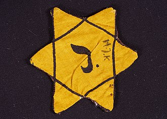 The Holocaust in Belgium - The Belgian version of the Yellow Badge, compulsory from 1942