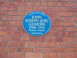 Photo of John Joseph Gilmore blue plaque