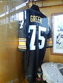5f35ab750 Greene s jersey displayed in the Heinz Field Walk of Fame
