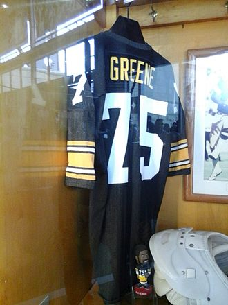 Joe Greene - Greene's jersey displayed in the Heinz Field Walk of Fame