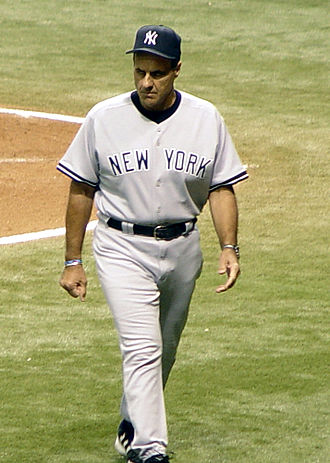 Joe Torre - Torre after visiting the mound during a 2005 game
